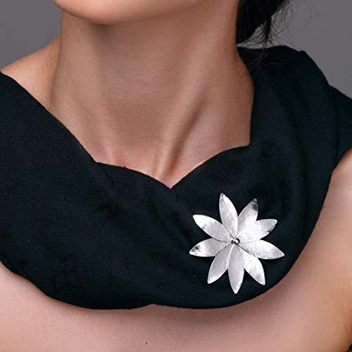 Broche de flores, broche de regalo de la boda, broche nupcial, broche de plata esterlina, pin de flor, statemen broche, broche de flores