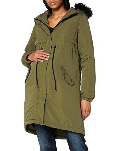 MAMALICIOUS Mama Licious Female Umstands-Parka Langer wattierter LOlive Night