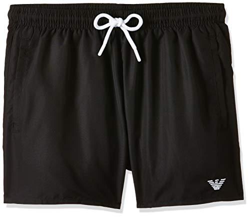 Emporio Armani Swimwear Herren Shorts Beachwear Essential Badehose, Schwarz (Nero 00020), Medium (Herstellergröße: 50)