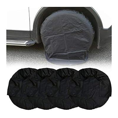 LALANG 4 pcs Tire Covers Waterproof Aluminum Film Tire Sun Protectors Tire Diameters Weatherproof Tire Protectors