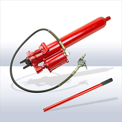 DEMA Hydraulikzylinder Zylinder hydraulisch 8 t mit Druckluft - Motor für Motorradhebebühne Hebebühne