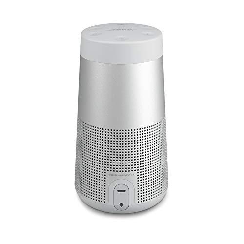 Bose SoundLink Revolve (Serie II) Bluetooth speaker - Tragbarer, wasserabweisender kabelloser Lautsprecher mit 360°-Klang, Silber