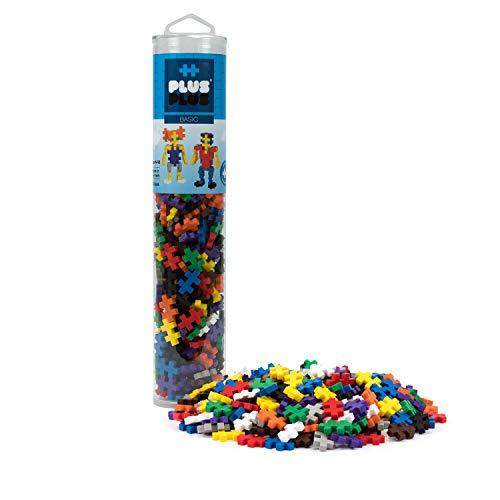 PLUS PLUS – Open Play Tube – 240 Piece Basic Color Mix – Construction Building Stem Toy, Interlocking Mini Puzzle Blocks for Kids