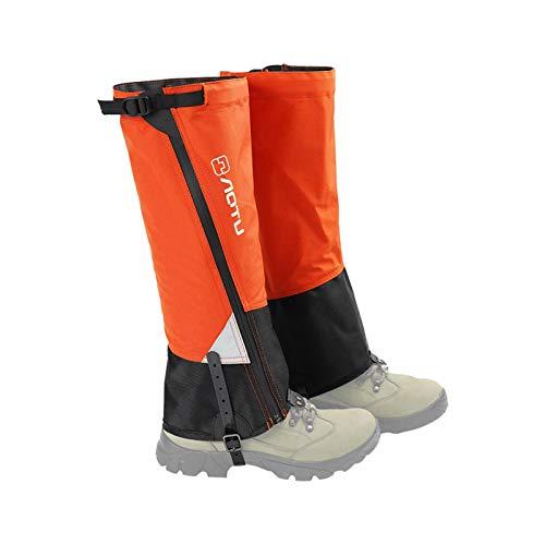 Polainas para piernas, polainas para senderismo, polainas impermeables para botas de nieve, polainas para nieve para caminar al aire libre con raquetas de nieve Polainas resistentes al desgarro