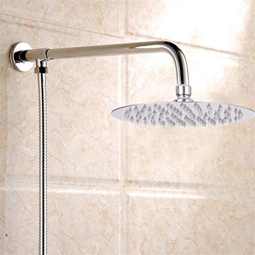 QFWM Alcachofa de ducha moderna de 20,3 cm redonda de acero inoxidable cromado con efecto lluvia de agua y alcachofa de ducha universal