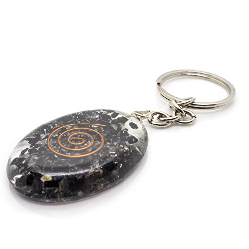 Find Bargain Piezo Electric Orgonite Keychain with Bionized Black Tourmaline Crystals – Tested Cho...