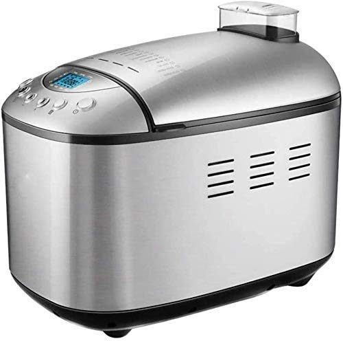 Breadmakers, Bread Machine Premium Dough Bread Maker Machine with Auto Fruit and Nut Dispenser, Loaf Capacity, Stainless Steel