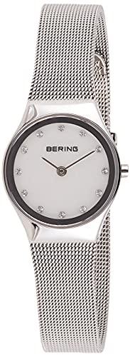 BERING Damen Analog Quarz Classic Collection Armbanduhr mit Edelstahl Armband und Saphirglas 12924-000