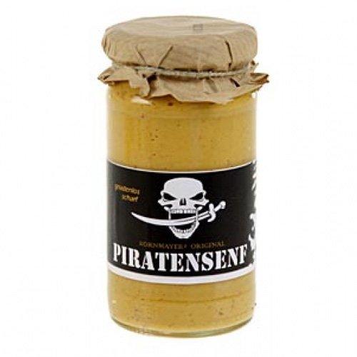 Kornmayer Piraten Senf, mit roter Pfefferschote und Rum, 210ml.