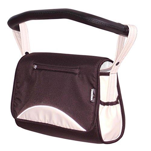 Zekiwa 803/862-12 komfortable Wickeltasche zum Kinderwagen Dessin: Punkte Bronze