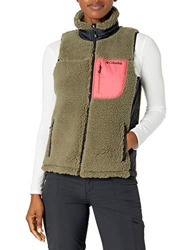 Columbia Women's Archer Ridge II Vest, Stone Green/Bright Geranium, Large