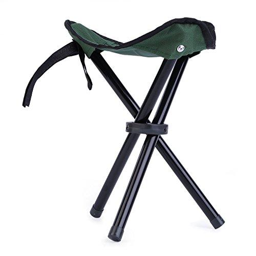 OUTAD Camping-Stuhl Kleine Starke Qualität Camping Fishing Folding Stativ Hocker mit Tragetasche