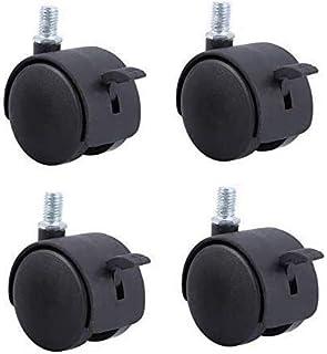 """TCWDX Universele wiel 2 inch schroef M10 anti-val slijtage meubels wielen, archiefkast bureaustoel nylon wielen (maat: 2"""" ..."""