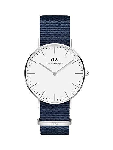 Daniel Wellington Classic Bayswater, Nachtblau/Silber Uhr, 36mm, NATO, für Damen und Herren