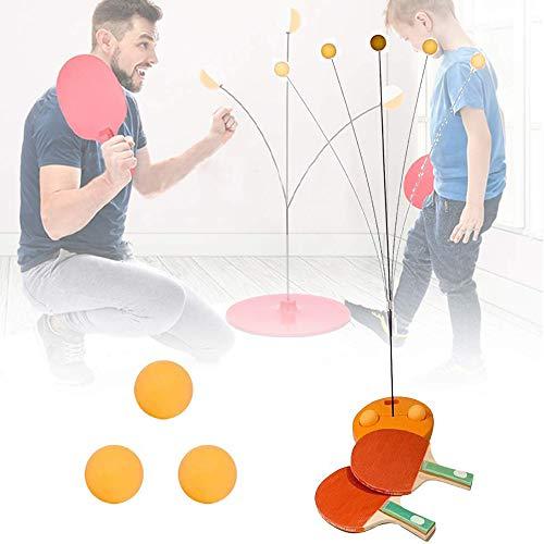 KAIXIN Tafel Tennis Trainer Elastische Shaft Rebound Tafel met 2 Kunststof Racket & 3 Praktijkbal voor Zelftraining/Vrije tijd/Decompressie/Kid Indoor Outdoor Play