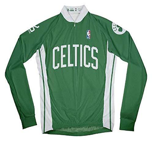 NBA Boston Celtics Men's Long Sleeve Cycling Away Jersey, Medium, Green