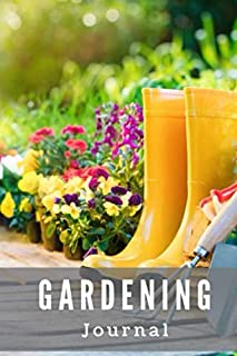 "Gardening Journal: 6"" x 9"" log, planner, journal, notebook for recording your garden successes and mistakes from year to year, Lush Garden Cover"
