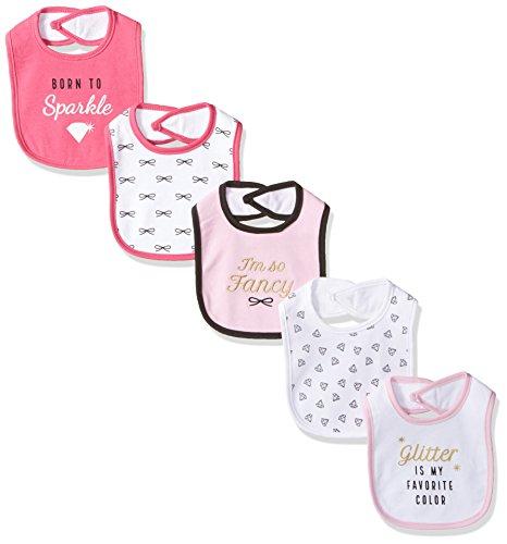 Hudson Baby Unisex Baby Cotton Bibs, Sparkle, One Size