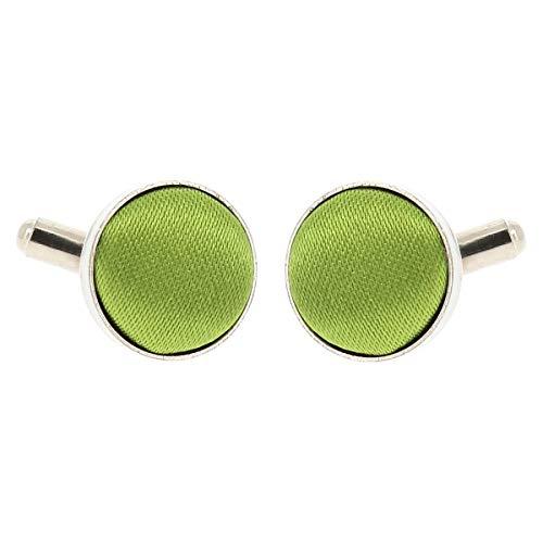 Boutons de Manchette Vert citron pour Homme - Accessoire Poignet Chemise et Veste de Costume - Mariage, Cérémonie