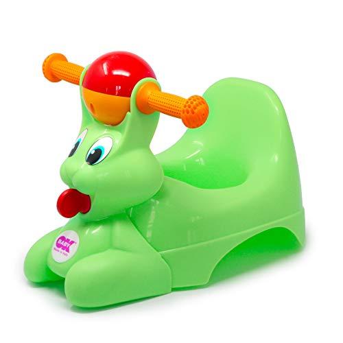 OKBABY Spidy - Vasino per Bambini con Seduta Ergonomica, a Forma di Coniglio - Verde
