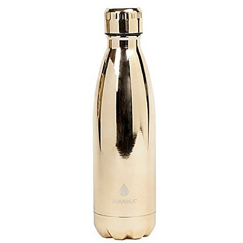 Manna Vogue Doppelwandige Edelstahl-Flasche, 500 ml, goldfarben