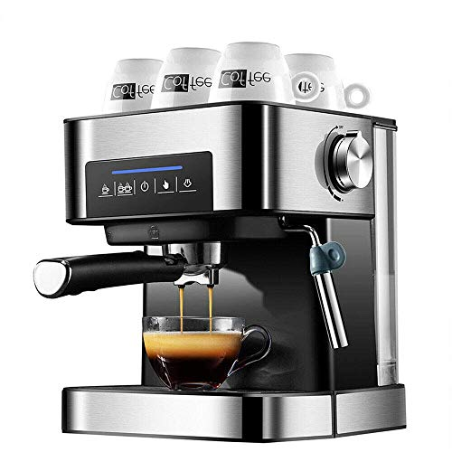 XYUN Espressomachine 20 bar, cappuccino koffiezetapparaat, 850 W koffiezetapparaat met melkopschuimer arm voor thuis kantoor en school