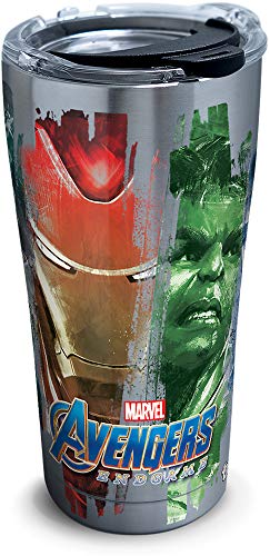 Tervis Marvel - Avengers 4 Endgame Group Insulated Travel Tumbler with Lid, 20 oz - Stainless Steel, Silver