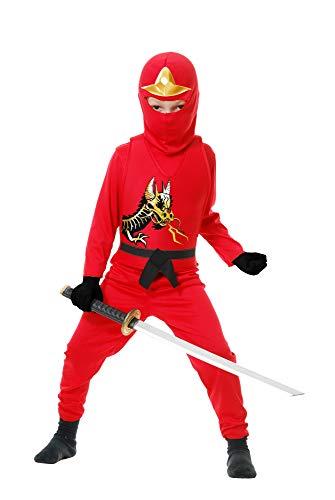 Charades Ninja Avenger Series II Child's Costume, Red, Small