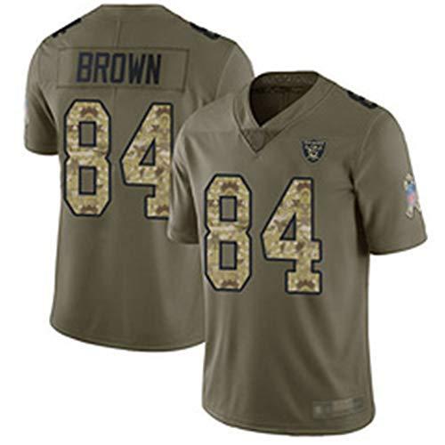 Las Vegas Raiders # 84 American Football Trikot, Antonio Brown 84# Rugby Jersey Herren Damen Fans Trikots Sportswear T-Shirt Schnelltrocknend Atmungsaktiv-Green-S