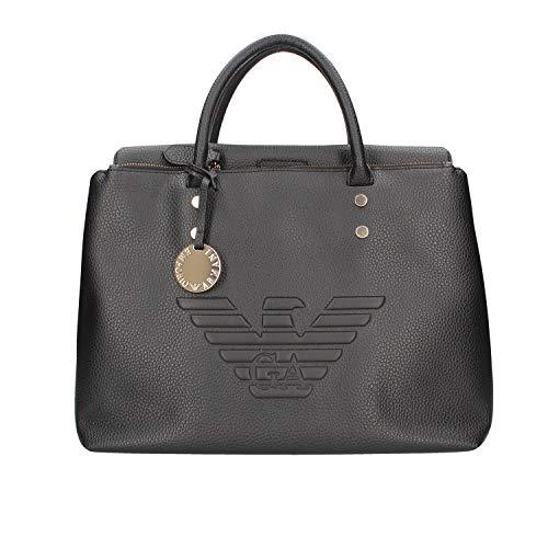 Emporio Armani Eagle Logo Mujer Handbag Negro
