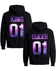Daisy for U Set hoodies voor koppels, King en Queen trui, 1 stuk