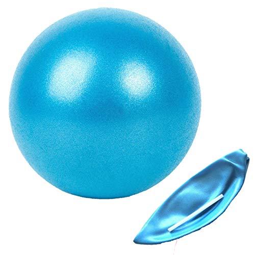 Slosy Pelota Yoga 25cm Azul Accesorios Gym Balón Pilates para Embarazadas Pequeño Material de Gimnasio Bola Fitness Pequeña Entrenamiento Mini Ball Mejora la Postura Equilibrio Rehabilitacion