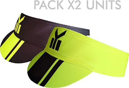 Pack 2 Unidades Viseras Ekeko Lagos, elástica, Muy Absorbente y de Secado rápidisimo. (Amarilla/Negra)