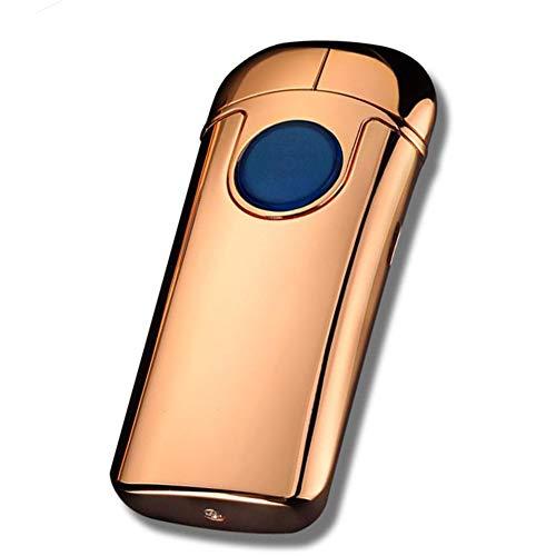 Lighter Encendedor De Arco A Prueba De Viento Pantalla Táctil Sin Llama De Doble Arco Pulso De Carga USB Encendedor De Cigarrillos De Metal Personalizado 280Mah Gran Capacidad,E