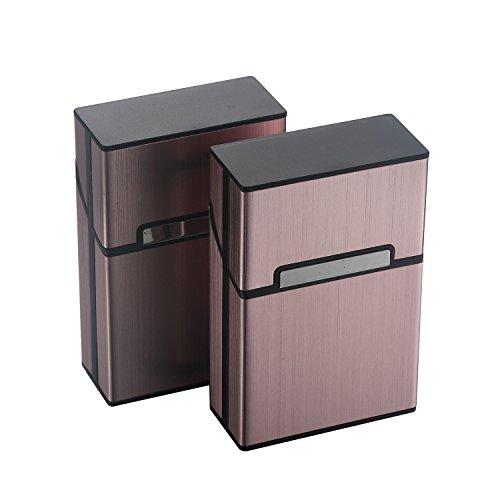 eLander Aluminium Zigarettenetuis von eLander [2er/Set, Rose Gold] Magnetisierte Deckel, Elegante Entwurf Aluminium Zigaretten Kasten