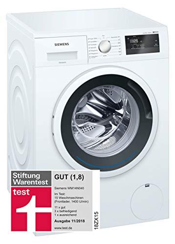 Siemens iQ300 WM14N040 - Lavadora (6,00 kg, A+++, 137 kWh, 1400 rpm, programa de lavado rápido, función de relleno, aquaStop)