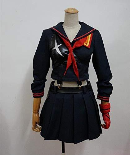 High Quality Anime Kill LA Kill cosplay wig Matoi Ryuko Black Red Wigs Short Curly Heat Resistant Synthetic Hair + wig cap S Ryuko Matoi costume