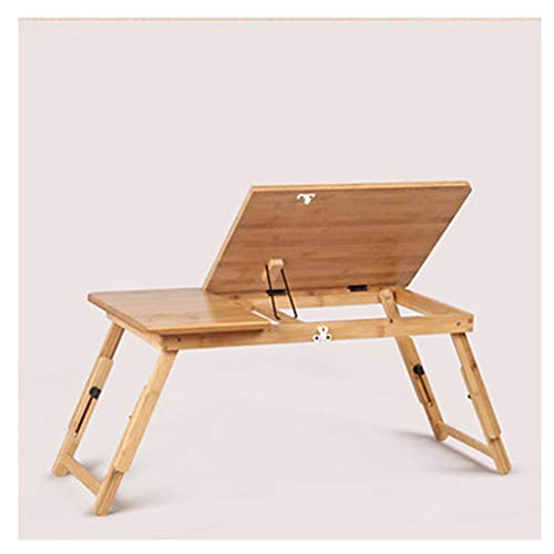 Bamboo Notebook Table Foldable Laptop Stand For Desk,Adjustable Viewing Angle,Portable Foldable Bed Tray Lap Desk,Can Be Used As A Breakfast Tray Or Drawing Table Stand Reading/Book Holder overbed tab