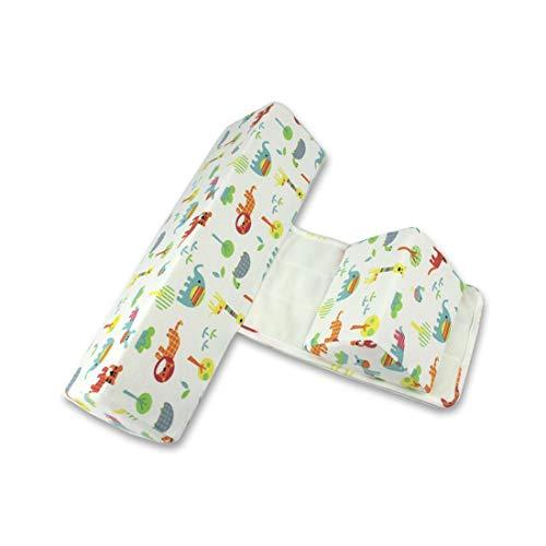 Wetry Keilkissen Baby Seitenlagerung Neugeborenes Seitenkissen Dreieckige Säule Kissenbezug aus Baumwolle und Kissenkern aus Memory Foam - Abnehmbar und Waschbar