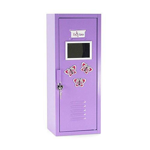 Purple School Locker / Closet with Working Lock and Key | Fits 18