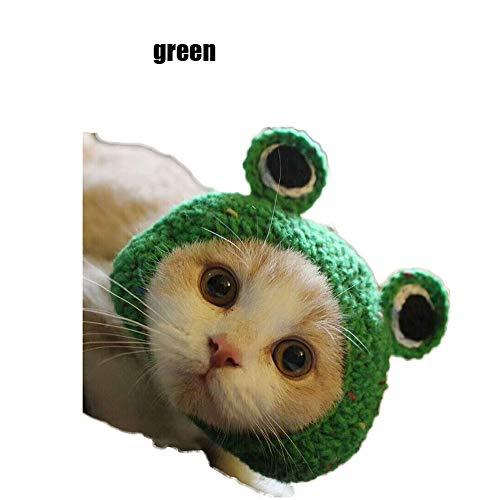 PENGYANZHOU Kikker huisdier wol gebreide pet kat hond kostuum - nek oor Warmer hoofdband Protector