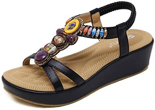 Sandali Donna con Zeppa Moda Espadrillas Eleganti Estivi Primavera 2019 Tacco Basso Peep Toe Scarpe Spiaggia Casuale Romani Piattaforma Sandals Scarpe Donna