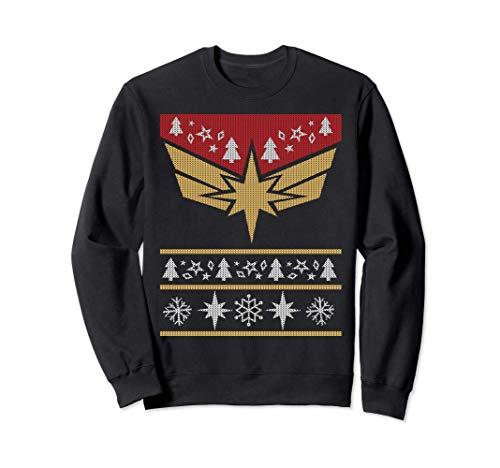 Marvel Captain Marvel Carol Danvers Holiday Sweater Sweatshirt