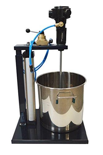 Pneumatic Mixer with Stand and 5 Gallon Barrel Tank Pneumatic Paint Mixer,Mixing Machine Tool