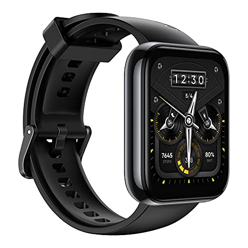realme Smart Watch 2 Pro (Space Grey) with 1.75 inch (4.4 cm) HD Super Bright Touchscreen, Dual-Satellite GPS, 14-Day Battery, SpO2 & Heart Rate Monitoring, IP68 Water Resistance