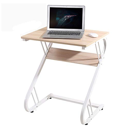 ZND Eenvoudige Laptop Stand voor Bureau Massief Hout Multifunctionele Draagbare het bedrijf Office Tafel Thuis Eenvoudige Meubels, 50X60X73Cm (Kleur: Oude Eiken Kleur)