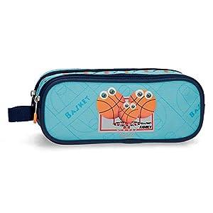 Estuche Enso Basket Family Dos Compartimentos, Azul, 23x9x7 cm