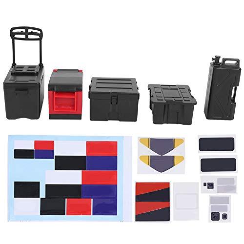Caja de almacenamiento para RC, 5 piezas de accesorios de juguetes a escala 1:10, mini kit de muebles, para coche de escalada simulado, decoración del hogar, modelo de coche de juguete(black)