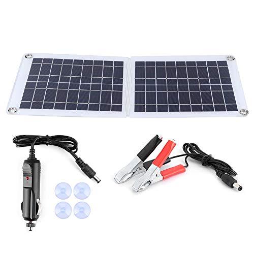 Qiilu Polysilicon Solarpanel, 18V 30W IP67 Tragbares Polysilicon Solarpanel-Außenladegerät mit faltbarem Scharnier