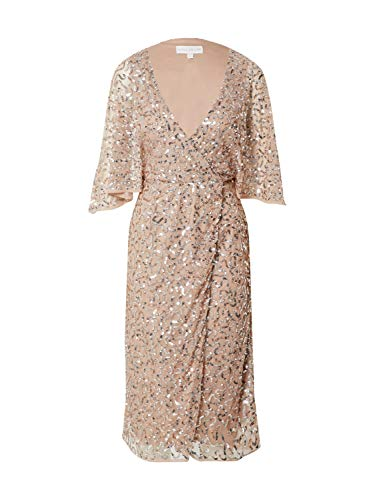 Maya Deluxe Damen Abendkleid Silber 8 (36)